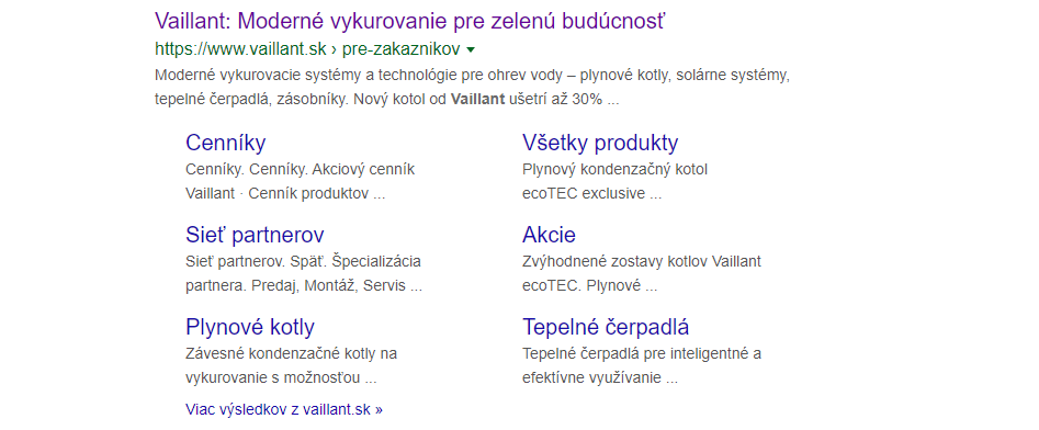 ako sa web zobrazí na Google