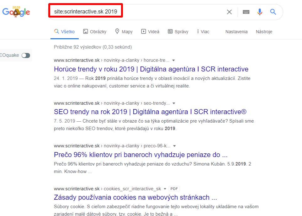 rok na google